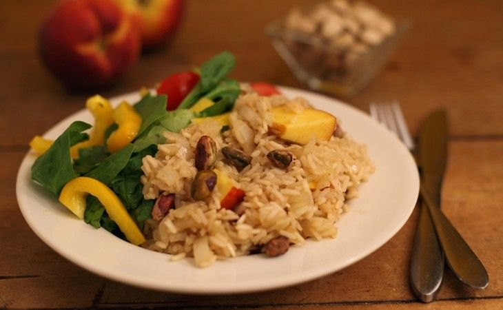 Rijst met pistachenoten en nectarine - VeggieChallenge