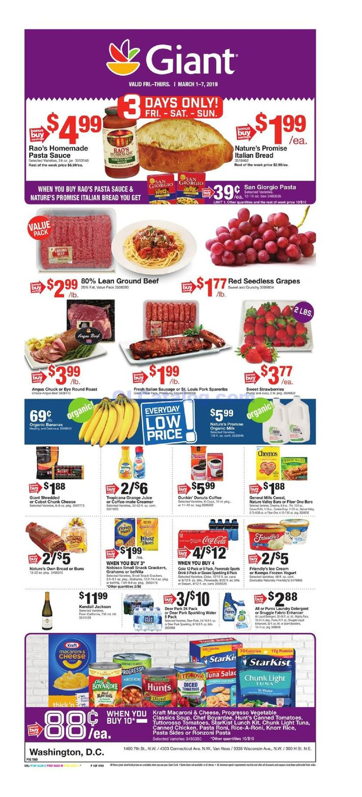 Giant food weekly ad march 1 7 2019 do you know whats