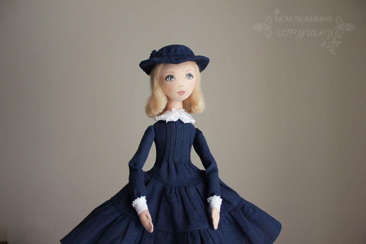 Привет!   Образ моей новой куклы знаком многим с детства. Это Мэри Поппинс в исполнении Натальи Андрейченко.   Кукла подвижная, ростом 40 ...