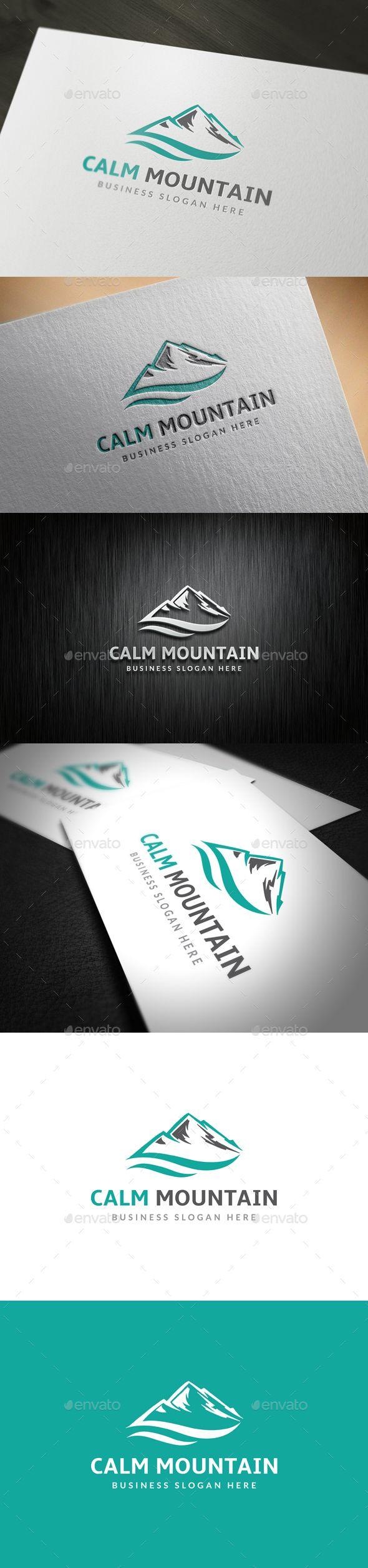 Mountain Logo Template PSD, Vector EPS, AI Illustrator #logotype Download here: http://graphicriver.net/item/mountain-logo/14122547?ref=ksioks