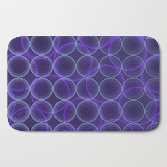 Purple Go Round Bath Mat by Scar Design #bathmat #bath #gifts #homegifts #home #purplebathmat #purple #abstract #geometricmat #society6