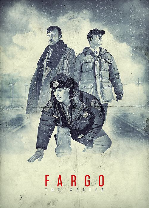 Fargo - The Series poster on metal plate.