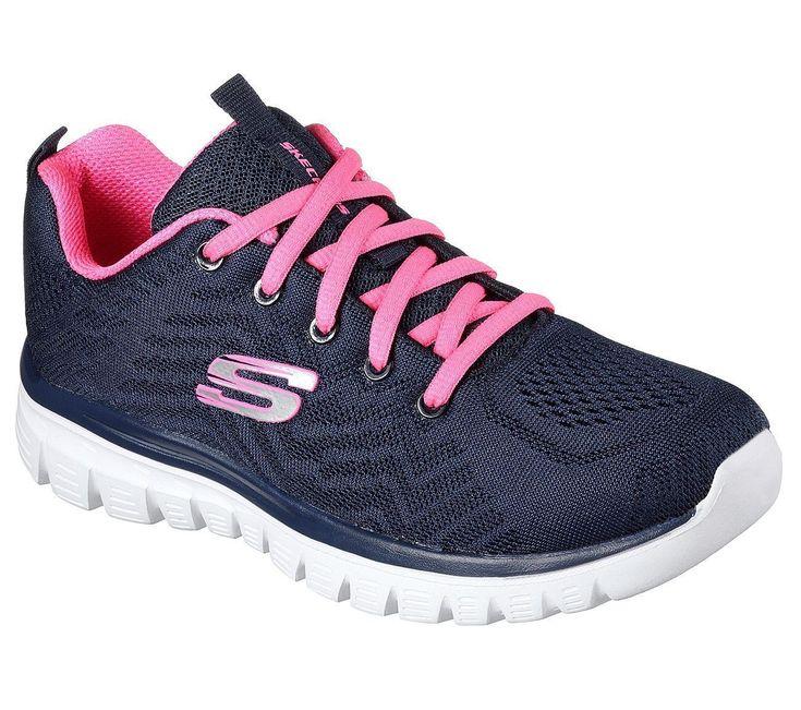 12615 Nvhp Navy Hot Pink Skechers Shoes Memory Foam Women's Sport Casual Sneaker