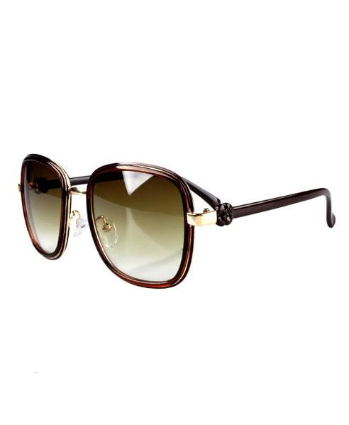 Vintage Oversized Sunglasses with Golden Frames