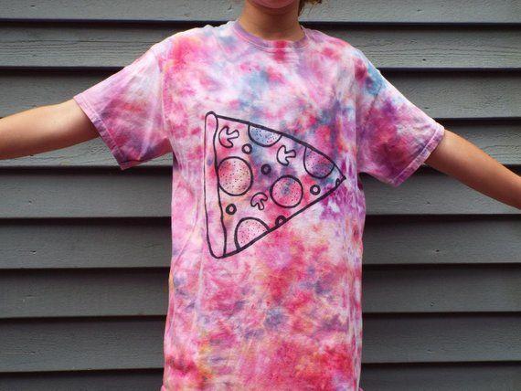 Kids Pizza Shirt, Custom Tie Dye Pizza T-shirt, Kids Tie Dye Shirt, Pizza Lover, Pizza Party, Tween