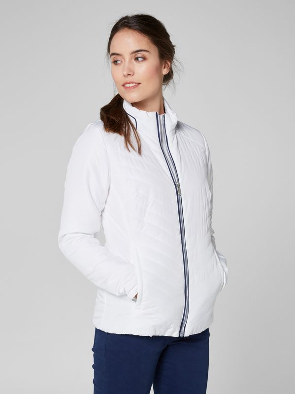 W Crew Insulator Jacket by Helly Hansen. a feminine and classic design that last for several seasons. Shop it at mallofnorway.com #hellyhansen #allthingsnorwegian #mallofnorway #norwegianfashion