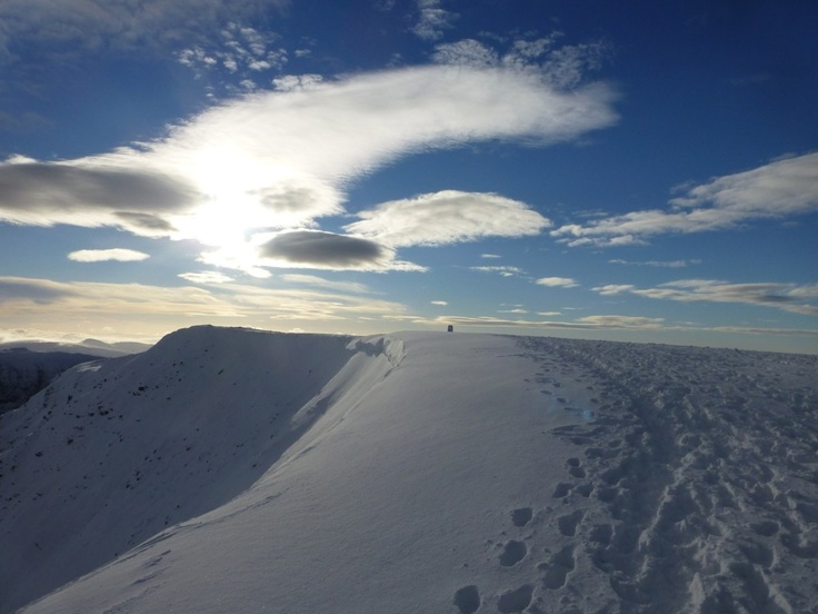 Summit of Helvellyn November 2012