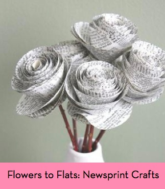 Flowers to Flats: 7 Fun DIY and Crafty Projects Using Newspaper