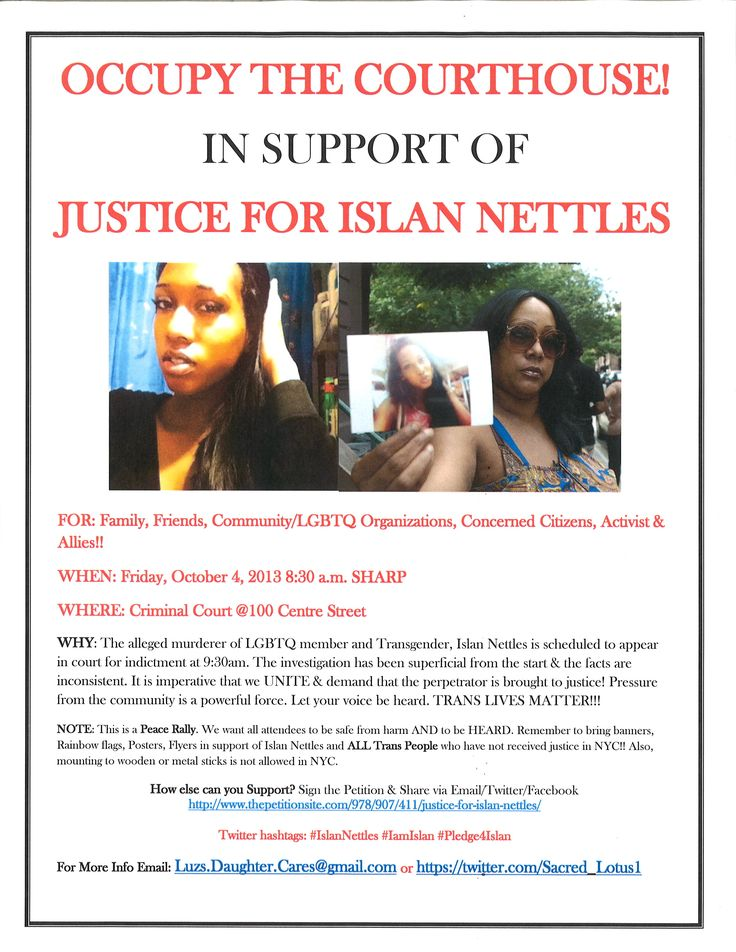 Occupy the Courthouse 1 - Justice for Islan Nettles!