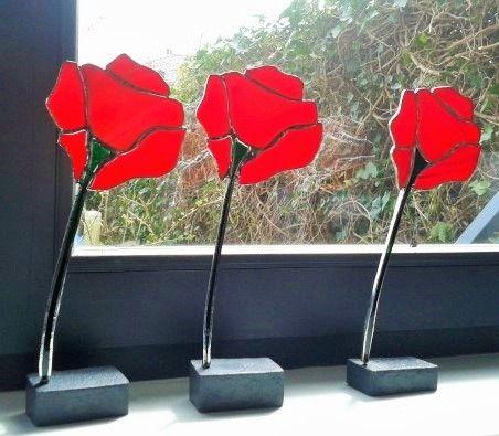 Glazen bloemen in tiffany-techniek van Lood en Spelen op DaWanda.com