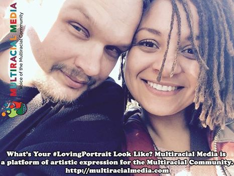 It's Friday, which means it's #LovingPortrait day on #MultiracialMedia. This week's featured #LovingPortrait is Sarah Asia Chidzikwe and her partner Nathan Amthor. He's #White and she's #Biracial (#Black / White) or, as she prefers, #Mulatta.  If you would like to submit your picture to us to be included in our gallery of #LovingPortraits, please click on the link and use the submit button.  Happy Friday, #MultiracialCommunity!