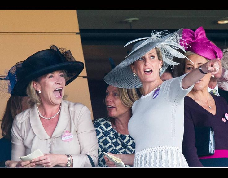 Sophie, Countess of Wessex watches the races on Ladies Day   Royal Ascot: Ladies Day   Galleries   Pics   Daily Express