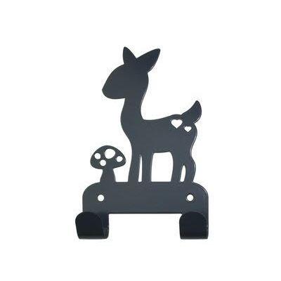 Kapstok hert grijs. Coat hanger deer grey kids room. #kidsdecor