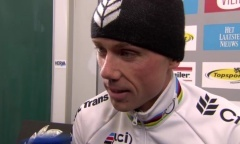 Vier: 1st place at Superprestige Veldrijden Hoogstraten 10-2-13 | Sven Nys wins his 12th race in 2012-2013 & 60th winning of Superprestige in 15 CX season! In the back interview panels made by Herva Sports!