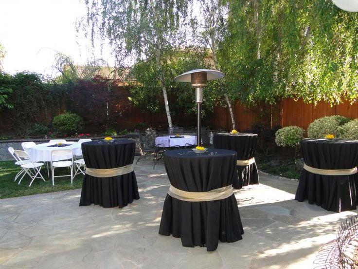 backyard arrangement for graduation party - Google Search