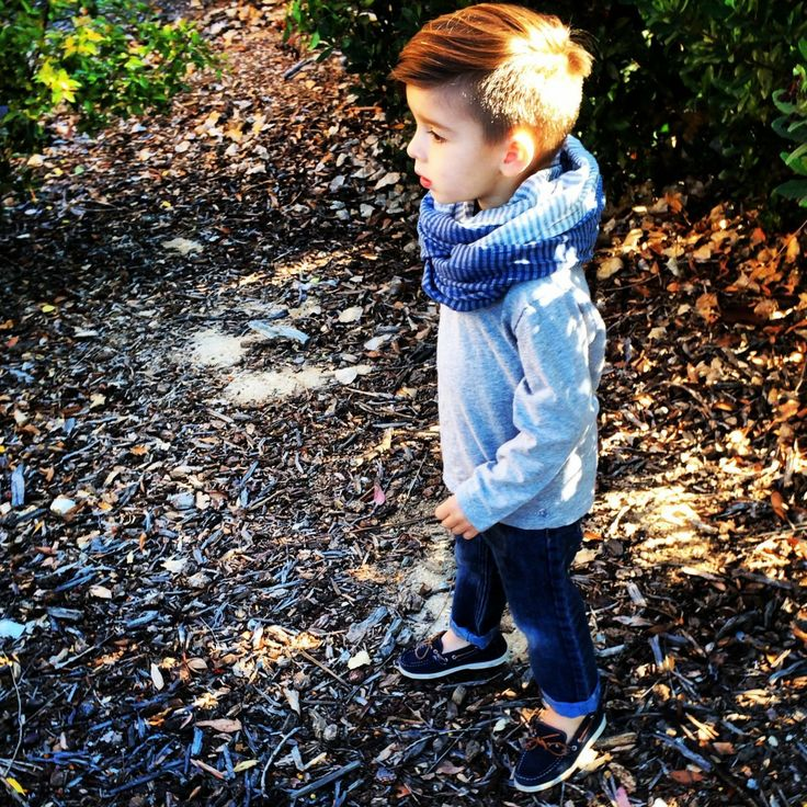 Little Boy In Scarf And Boat Shoes Kid Style Kid Fashion Kid Style Pinterest Kids