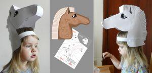mascara cabeza de caballo маска Лошади