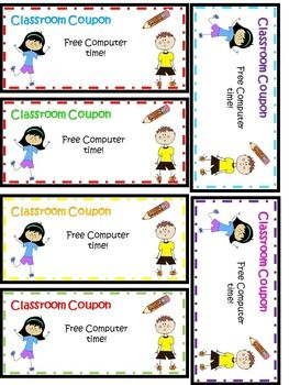 Classroom Coupons! - Behavior and Classroom Management