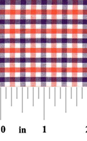 Fabric Finders Purple and Orange Check Fabric – #T98, Clemson fabric by the yard, Clemson tiger plaid fabric, clemson sewing quilting fabric by osewcrazygalfabrics on Etsy