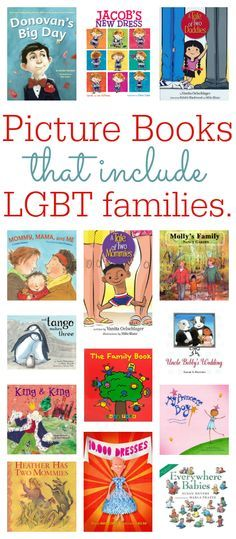 "LGBT picture books: ""this book list isn't about... your politics or mine. It is for that child who thinks something is wrong with them because none of their books show families like theirs."" Great resource list!"