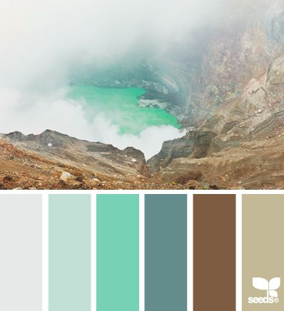 Cool, crisp color palette just right for a high Clarity value. | nature palette via Design-Seeds | commentary via The Voice Bureau at AbbyKerr.com