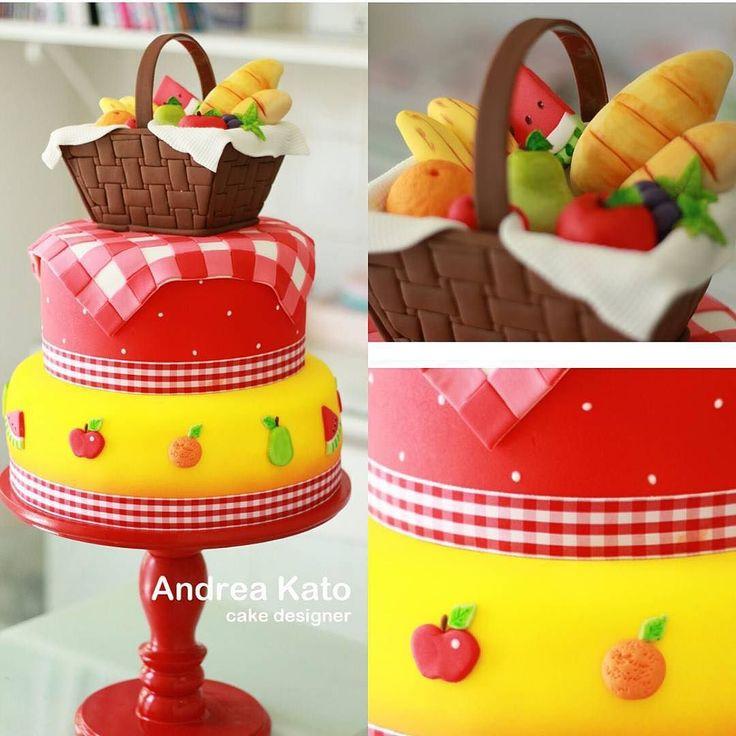 Bom dia com bolo PicNic linda da @askato perfeição amei!! #decorefesta #decorefestacakes by decorefesta