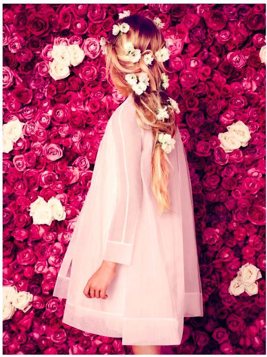 Baby #Dior SS 2014 #flowers #niña #girl #vestido de #ceremonia #vêtements de #cérémonie #belle #formal #wear #ceremony #dress #robe de cérémonie #beautiful #maid of #honor #demoiselle #d´honneur