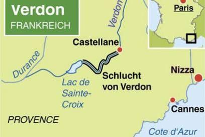Die Schlucht von Verdon liegt imSüden Frankreichs