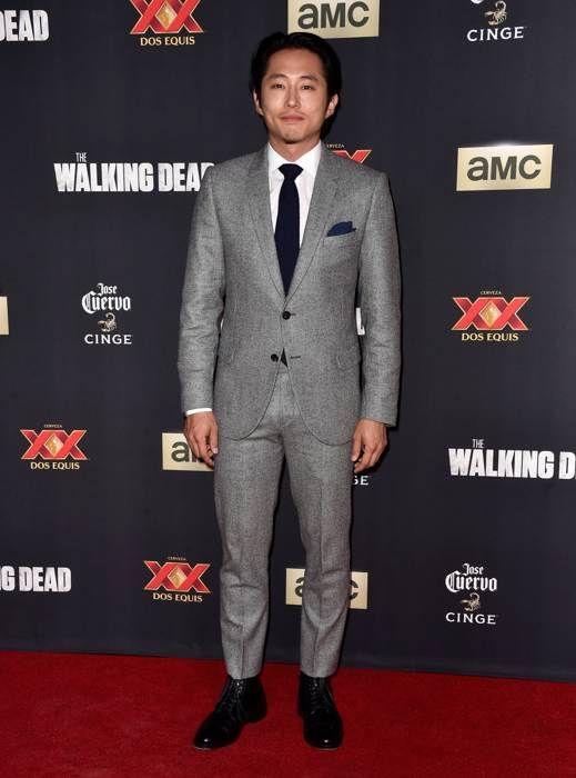 'The Walking Dead' Season 5 Premiere Steven Yeun attends the Season 5 premiere of The Walking Dead at AMC Universal City Walk on October 2, 2014 in Universal City, California.