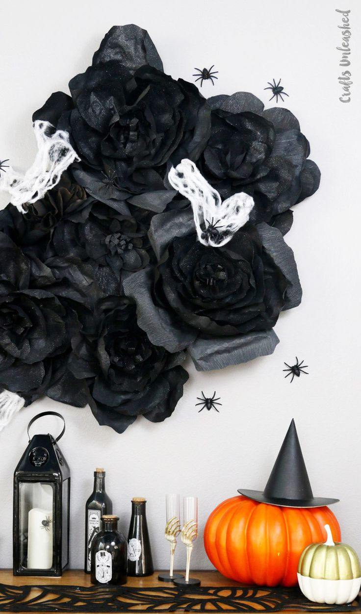 Best 25 halloween wall decor ideas on pinterest diy halloween diy halloween wall decorations spooky flowers consumer crafts amipublicfo Choice Image