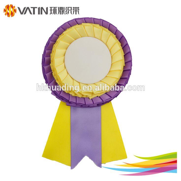 Safety Pins Mini Ribbon Award 2 Tiers Ribbon Rosettes