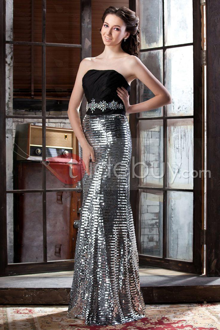 素敵な コラム/シースAライン 床まで届く長さの シークイン ページェント/イブニングドレス