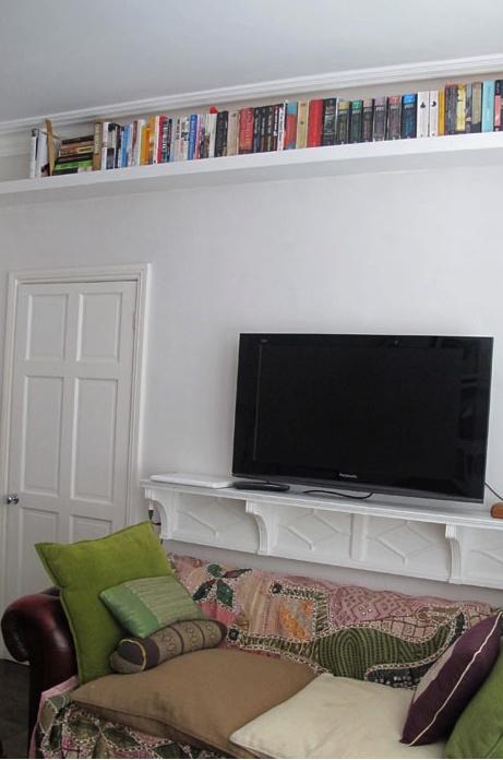 Shelf Mounting Under Tv For Books Up High Living Room Ideasbedroom