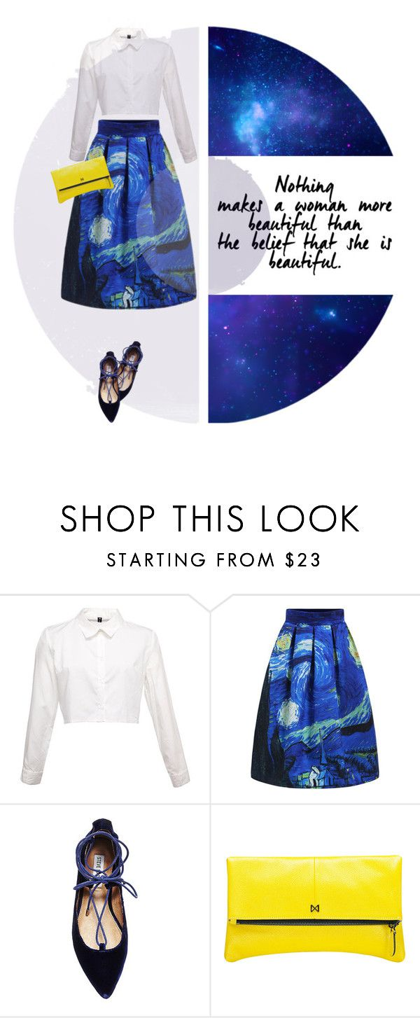 """""""De sterrennacht"""" by mockingjayafire ❤ liked on Polyvore featuring Steve Madden and MOFE"""