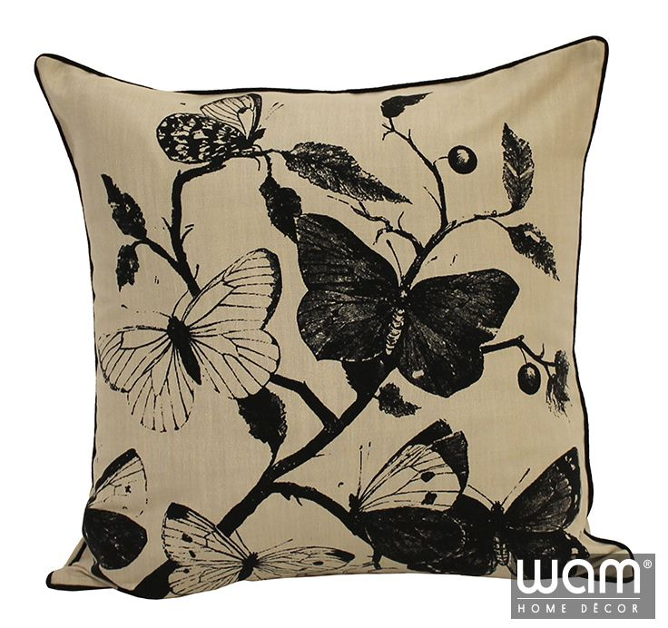 Summer Flutter Cushion. French inspired printed cushion. http://wamhomedecor.com.au/index.php/printed-cushions-45x45cm.html