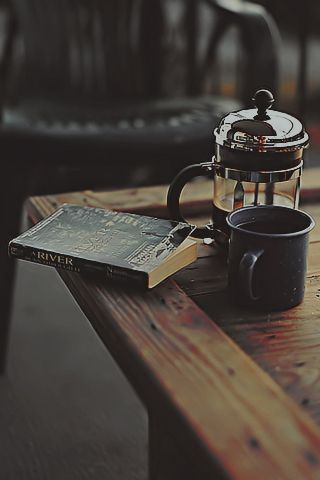 a good book and a strong coffee