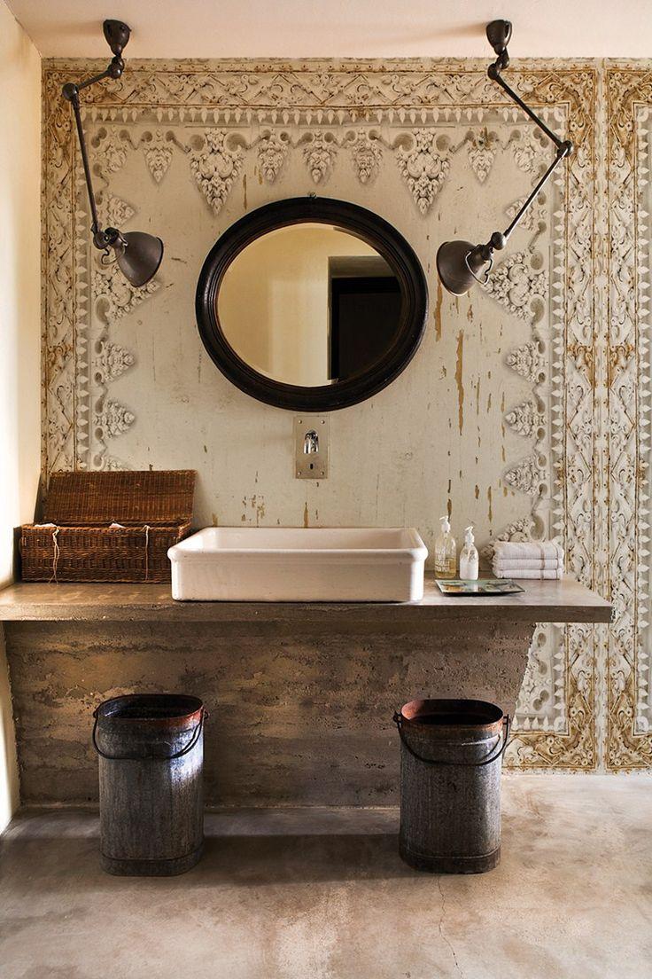 Carta da parati effetto muro per bagno DHARMA STYLE - Wall&decò