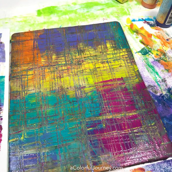 How do you get those gel prints with little bits of color here and there that give a print the wow factor and do it in one pull? By color transference - see how in the video by Carolyn Dube #gelprinting #monoprinting using Paper Artsy paints
