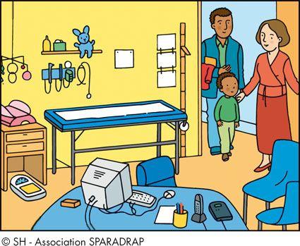 Bureau de consultation / B / Par ordre alphabétique / Le dico de la santé / Enfants / Accueil - Sparadrap