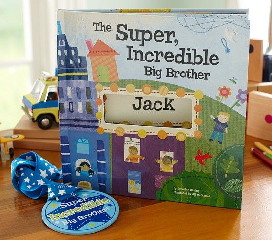 The Super, Incredible Big Brother by Brother. I See me Book Helps a new big brother see how important his role in the family is with this personalized book and accompanying medal. @Luvocracy | #sponsored