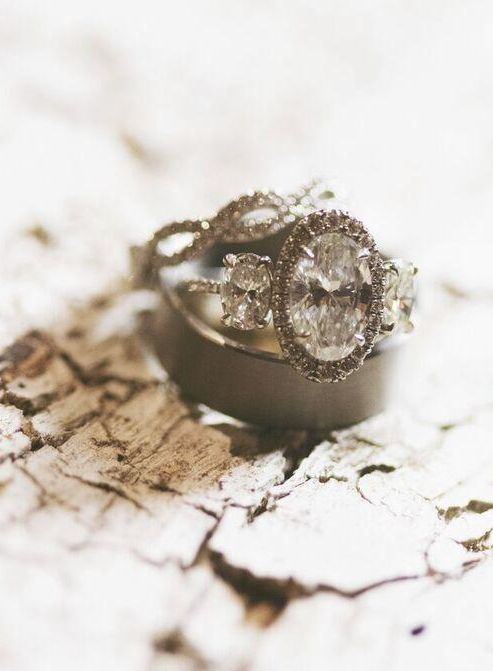 Featured Photographer: Alixann Loosle Photography; Engagement ring idea.