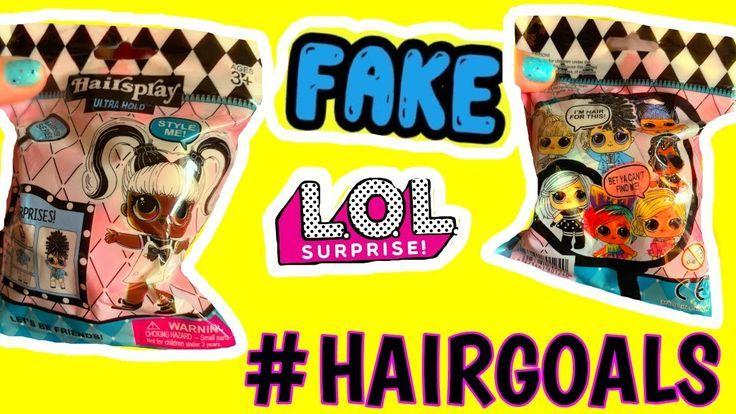 Fake Lol Surprise Hairgoals Dolls Series 5 Blind Bags Opening Omg Hair Lol Lo Doll Videos Lol Dolls Blind Bags