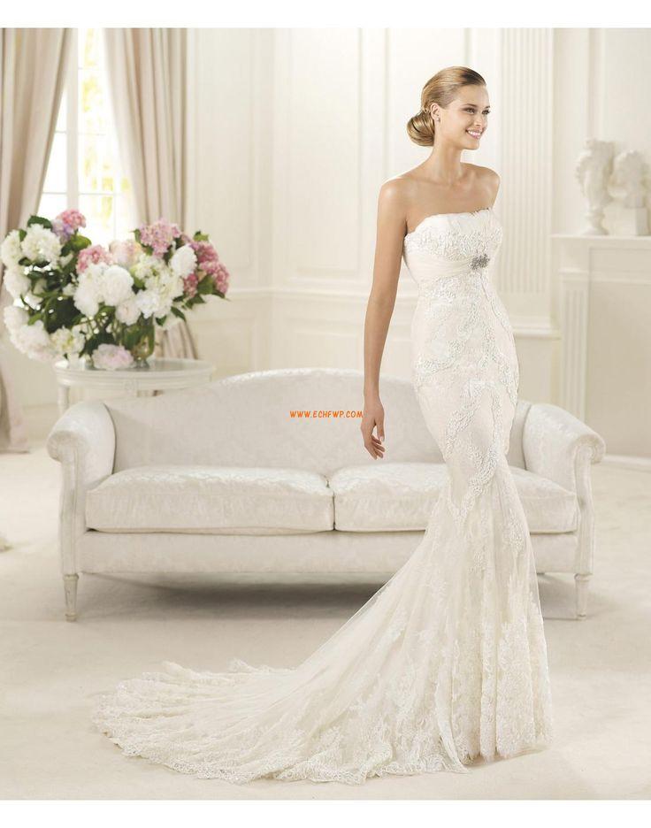 Elégant & Luxueux Sans manches Dentelle Robes de mariée 2015