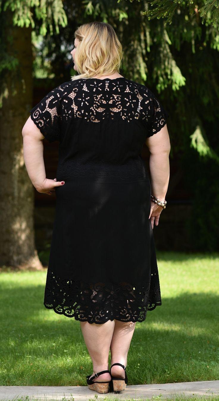 Французское кружево Платье Париж - Черный купить в интернет магазине Monika   Женская одежда больших размеров Моника