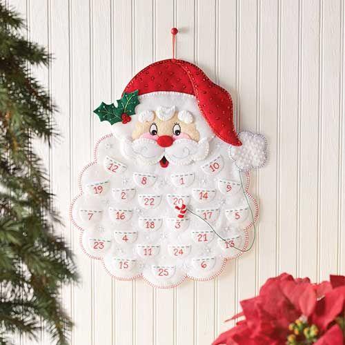 Bucilla ® Seasonal - Felt -Santa Advent Calendar - Perfect for Christmas and holiday traditions! #plaidcrafts #crafts #needlecraft