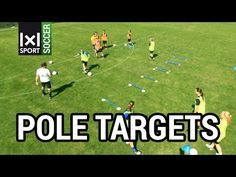 """FC BAYERN MUNICH SOCCER DRILL: """"Pole Targets"""": Controlling & Passing the Ball - YouTube"""