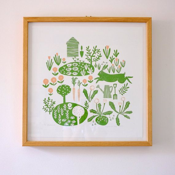 Allotment giclee print by Stephanie Cole Design, 2015 www.stephaniecole.co.uk