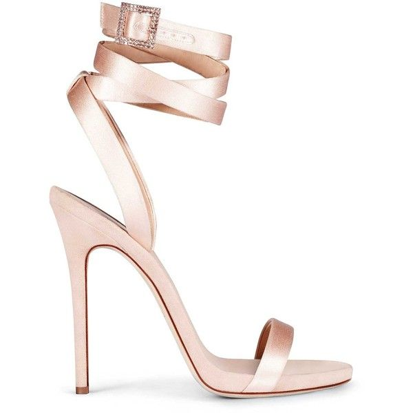 GIUSEPPE ZANOTTI DESIGN 'Julie' Satin Sandal With Crystal Details ($625) ❤ liked on Polyvore featuring shoes, sandals, giuseppe zanotti, giuseppe zanotti shoes, satin shoes, crystal embellished sandals and giuseppe zanotti sandals