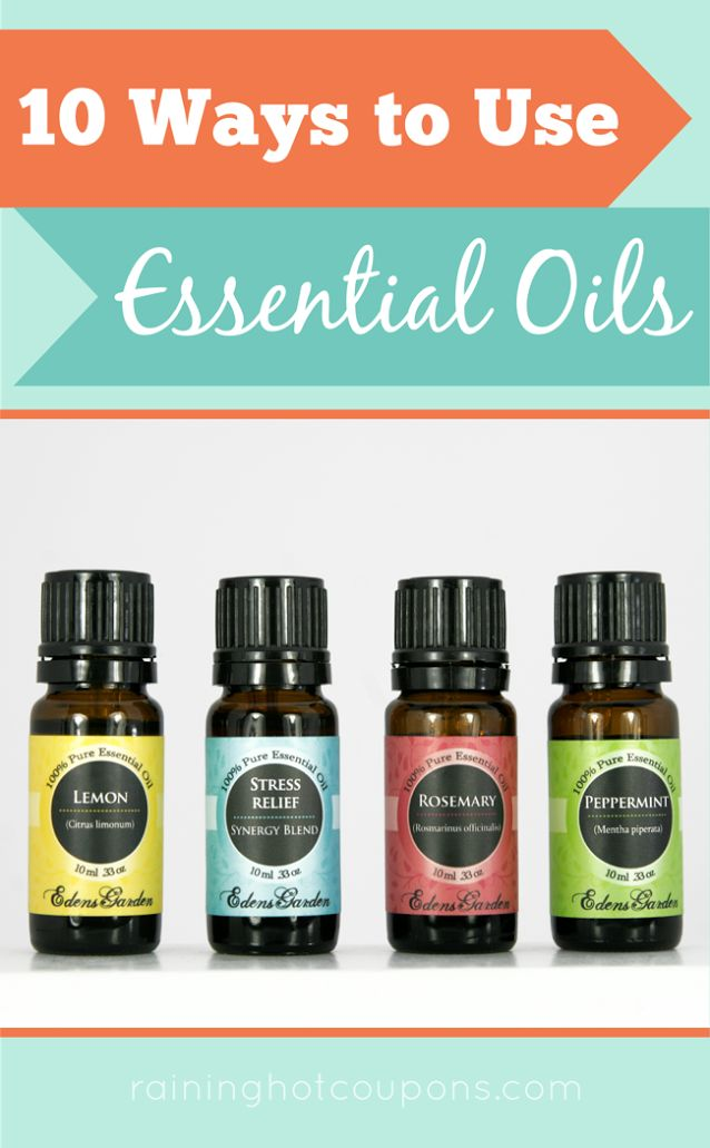 10 ways to use essential oils frugal tips tricks from raining pinterest gardens edens Edens garden essential oils coupon