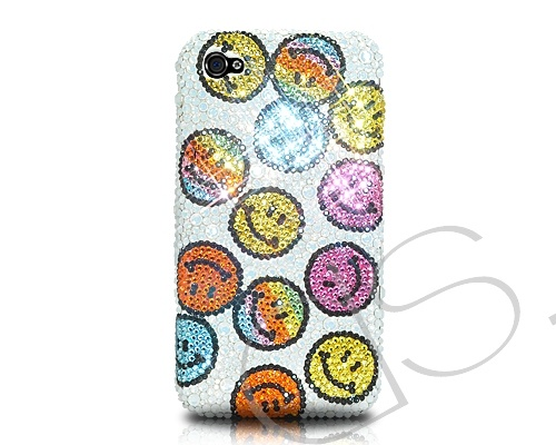 Smile Icon Bling Swarovski Crystal Phone Case #Swarovski http://www.dsstyles.com/iphone-5-cases/swarovski-series-smile-icon-swarovski-crystal-phone-case.html?src=pinterest
